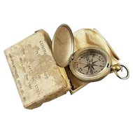 WW2 vintage Longines Wittnauer US Army Corps of Engineers military compass, original box and pouch, dated 1941