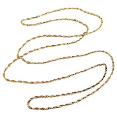 """Vintage NOS new old stock 28"""" gold fill necklace, pendant, chain, ENDLESS, jewelry supply, replacement chain, rope chain, neck chain"""