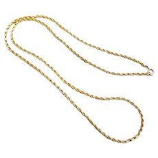 """Vintage NOS new old stock 20"""" gold fill necklace, pendant, chain, jewelry supply, replacement chain, twisted curb link, neck chain"""