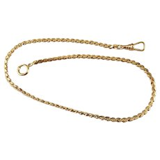 """13-1/8"""" vintage NOS new old stock gold filled Waldemar Catamore pocket watch chain"""