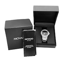Movado SE Extreme Automatic stainless steel wrist watch, original paperwork, boxes, 26 jewel 43mm diameter