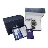 Revue Thommen Observer Automatic stainless steel wrist watch, original paperwork, boxes, 25 jewel with hack feature, 60mm