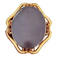 MASSIVE antique early Victorian double sided 14k gold box locket, original glass front and back, original pinstem, tube hinge, and clasp