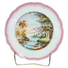 Vintage decorative scenic serving plate, porcelain, china, bone china, shabby chic, home decor