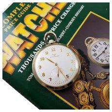 Vintage mid century 1950s gold filled Swiss Wittnauer Revue 65 pocket watch, 17 jewels, 12 size