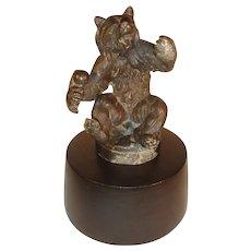 Antique Vienna Bronze Bear Figure Sculpture.
