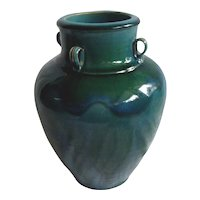 Chinese Green & Blue Glazed Stoneware Vessel / Urn.