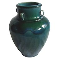 Chinese Qing Dynasty Green & Blue Glazed Stoneware Vessel / Urn.