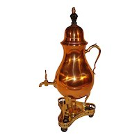 Royal Holland Daalderop Chinoiserie Samovar Copper Pewter.