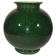 Old French Green Glazed Urn Provence Terracotta Pottery.