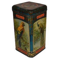 Dutch Tin Can Van Melle`s Toffees Shop Storage Box Large size.