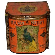 N.V. van Melle`s Toffees Confectionary Store Bin Orange. XL size Tin Can.