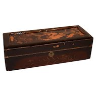 Antique Japanese Shibayama Kodansu Lacquered Gold Paint Box.