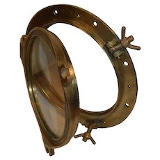Antique Dutch Nautical Brass Ships Porthole. 20""