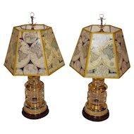 2 Marine our Nautical Brass Lantern Table Lamp.