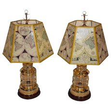 2 Marine our Nautical Brass Lantern Table Lamp.