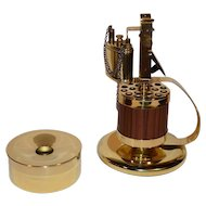 Vintage Brass Nautical Cigarette Dispenser & Lighter with a Ashtray.