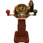 Nautical Brass Ship's Binnacle with E. Esdaile & Sons Sydney N.S.W. Compass.