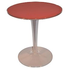 Mid Century Modern Space Age Acrylic Tulip Side Table. Perspex / Plexiglass.