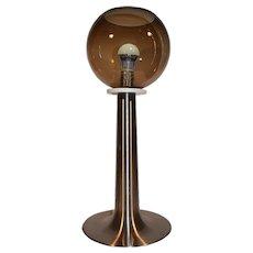 Mid Century Modern Space Age Smoked Glass Mushroom Table Lamp. Designed by: Raak - Amsterdam.