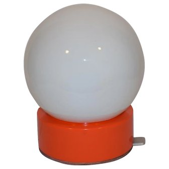 Mid Century Modern 70ties Space Age Plastic Table Lamp.