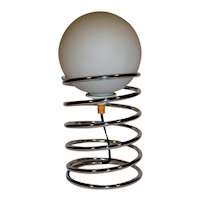 Mid Century Modern Danish Design Chrome Table Lamp, Spring Model.