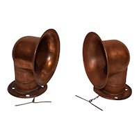 Antique Red Copper Nautical Cowl Vents.