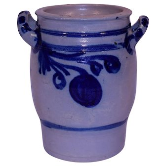 Salt Glazed Westerwald German Stoneware Crock.