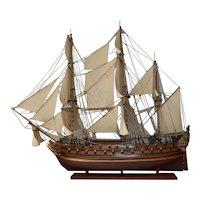 """Wooden Scale Model Ship """"Norske Løve"""" 1765."""