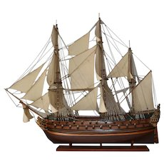 "Wooden Scale Model Ship ""Norske Løve"" 1765."