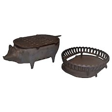 Fundimig Vintage Cast Iron Stove Grill Pig