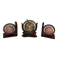 Vintage Desk Globe an Globe Bookends