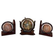 Vintage Desk Globe an Globe Bookends