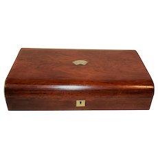 Inglish Rose Wood Card Box Chip Box