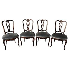 Chippendale Chairs Walnut wood.