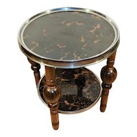 Art Deco Faux Tortoise Shell Coffee our Smokers Table.