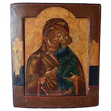 18TH Russian Icon - The Mother of God of the Tolga Monastery