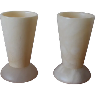 Alabaster Table lamps.