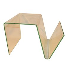 Vintage Perspex Acrylic Side Table & Magazine Rack.