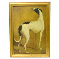 Vintage Greyhound Dog Framed Art Print