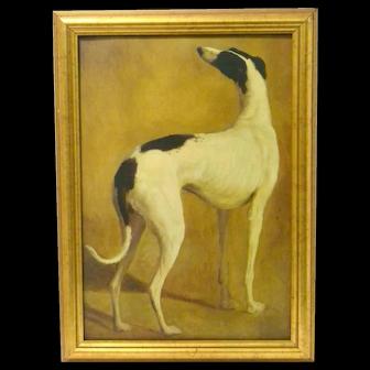 Vintage Greyhound Dog Framed Art Print