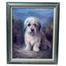 Vintage Dandie Dinmont Dog Framed Painting Print by Lilan Cheviot (British 1894-1940)