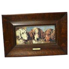 """Vintage Phillip Eustace Stretton c. 1884-1919 """"Setters"""" Artist Signed Print"""