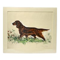 Limited Edition Lithograph of Irish or Gordon Setter Dog Richard Thompson (1914-1991)