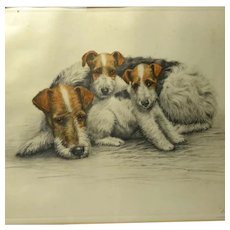 Fox Terriers by Leon Danchin c. 1930