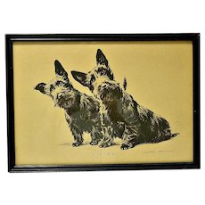 Scottish Terriers Vintage Print by Morgan Dennis