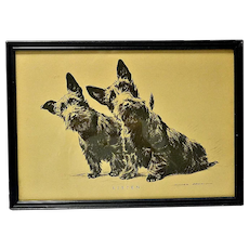 Scottish Terriers Vintage Print by Morgan Dennis