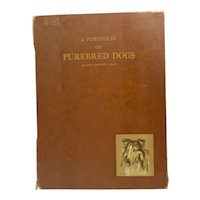 Gladys Emerson Cook Portfolio of 8 Purebred Dogs 1947 First Edition