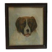 Saint Bernard Dog Portrait C. Winne c.1936
