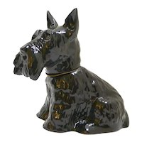 Vintage Scottish Terrier Dog Decanter England c.1970